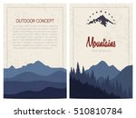 set of stylish outdoor cards... | Shutterstock .eps vector #510810784
