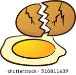 broken egg | Shutterstock .eps vector #510811639