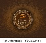 round coffee label designs.... | Shutterstock .eps vector #510813457