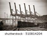 seattle  wa   aug 14  crane... | Shutterstock . vector #510814204