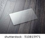 transparent business card on a... | Shutterstock . vector #510815971