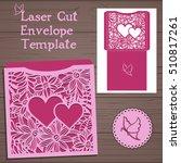 wedding invitation or greeting... | Shutterstock .eps vector #510817261