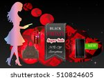 vector concept black friday.... | Shutterstock .eps vector #510824605