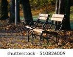 solitary bench | Shutterstock . vector #510826009