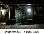 dark urban alley at night | Shutterstock . vector #510830821