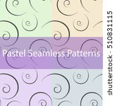 set of abstract curls. seamless ... | Shutterstock .eps vector #510831115