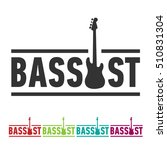 bassist sticker sign with bass... | Shutterstock .eps vector #510831304