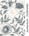 tea shop frame vector... | Shutterstock .eps vector #510836485