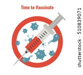vaccination and health concept. ... | Shutterstock .eps vector #510839071