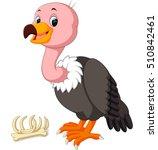 cute vulture cartoon | Shutterstock .eps vector #510842461