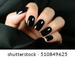 manicure on female hands with... | Shutterstock . vector #510849625