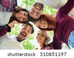 group of young people together... | Shutterstock . vector #510851197
