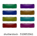 set of square buttons. chrome... | Shutterstock . vector #510852061