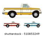 a set of three retro truck in... | Shutterstock .eps vector #510853249