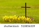Christian Grave With Yellow...