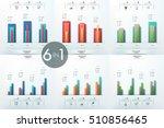 set of 6 infographic design... | Shutterstock .eps vector #510856465