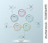 modern infographic design... | Shutterstock .eps vector #510856495