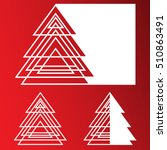 laser cut paper christmas tree... | Shutterstock .eps vector #510863491