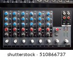 mixer table with several knobs | Shutterstock . vector #510866737
