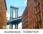 manhattan bridge seen from... | Shutterstock . vector #510867319