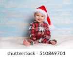 baby with christmas background | Shutterstock . vector #510869701