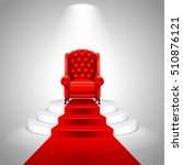 royal armchair on stairs with... | Shutterstock .eps vector #510876121