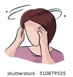 feel dizzy | Shutterstock .eps vector #510879535