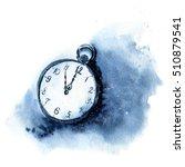 watercolor vintage clock.... | Shutterstock . vector #510879541