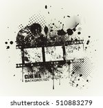 template grunge cinema poster.... | Shutterstock .eps vector #510883279