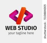 template of logo web studio....   Shutterstock .eps vector #510884005