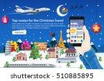 flat vector web banner on the... | Shutterstock .eps vector #510885895