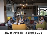 young people group in modern... | Shutterstock . vector #510886201