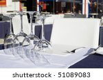 table setting at a european... | Shutterstock . vector #51089083