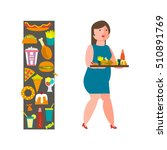 food and woman icon for...   Shutterstock .eps vector #510891769