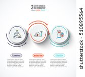 circles with arrows strokes for ... | Shutterstock .eps vector #510895564