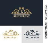 monogram design elements ... | Shutterstock .eps vector #510895861