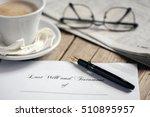 last will and testament | Shutterstock . vector #510895957