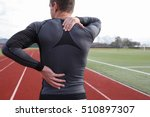 Athletic Fitness Man With Neck...