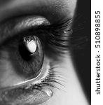 tears on eyes. open expressive... | Shutterstock . vector #510898855