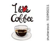 set of modern elements  i love... | Shutterstock .eps vector #510900211