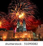 the old town square in prague... | Shutterstock . vector #51090082