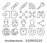 modern line style icons  user... | Shutterstock .eps vector #510903235
