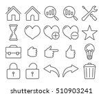 modern line style icons  user... | Shutterstock .eps vector #510903241