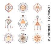 vector set of sacred geometry.... | Shutterstock .eps vector #510908254