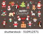christmas pattern  adorable... | Shutterstock .eps vector #510912571