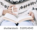 close up of woman hands holding ... | Shutterstock . vector #510914545