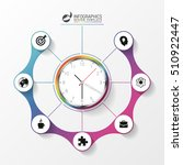 abstract infographic with clock....