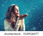 Happy Young Woman With Winter...