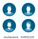 set of profile icons | Shutterstock .eps vector #510932125