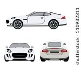 super car flat icon | Shutterstock .eps vector #510932311